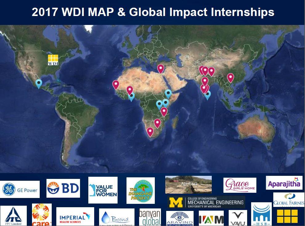 2017 MAP & Internships map