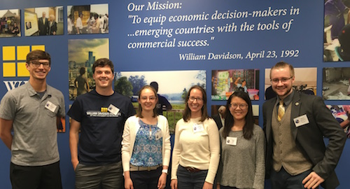 Six U-M graduate students are participating in the 2018 WDI Global Impact Internship program.