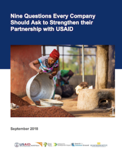 Nine Questions Every Company Should ask to Strengthen Their Partnership with USAID (report)