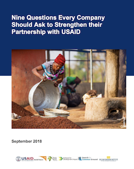 New Report Gives Advice To Those Partnering With USAID - William Davidson Institute