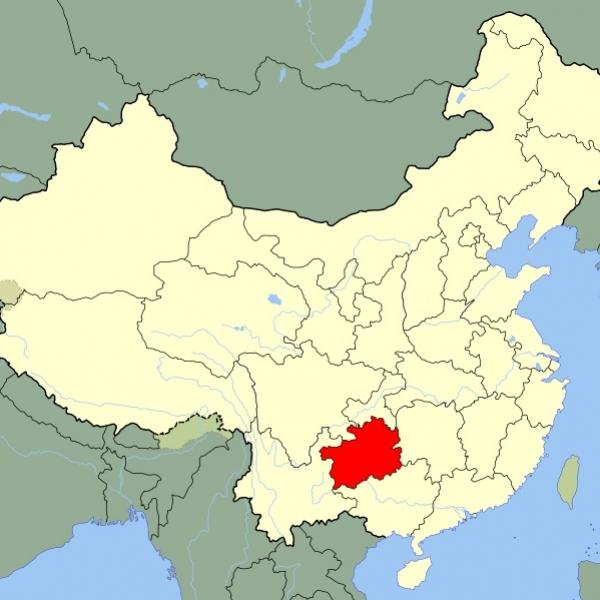 Map of Guizhou Province