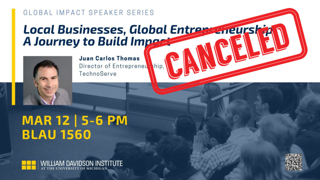 CANCELED! Canceled! We're sorry to announce this event has been canceled. We hope to reschedule Juan Carlos Thomas at a later date. Thank you for your interest! Be sure to follow us for future events and news.