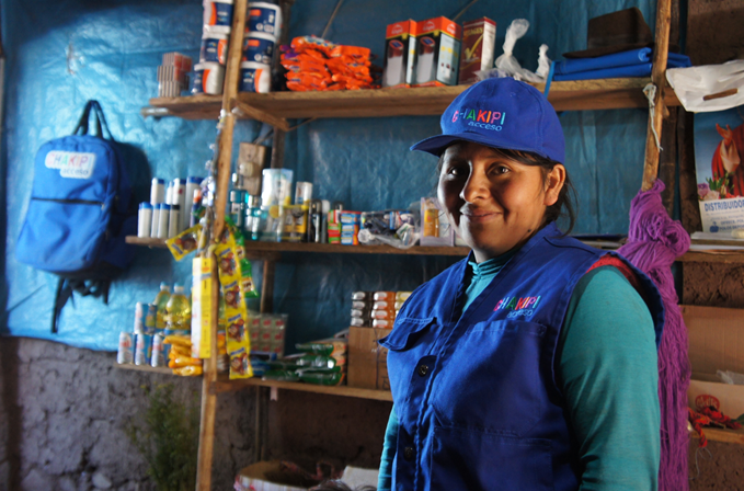 A worker with Chakipi Acceso Peru. Image courtesy of Chakipi.