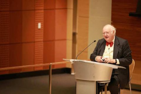 Sir Angus Deaton discusses poverty alleviation Oct. 5 at the first Gerson Lecture.