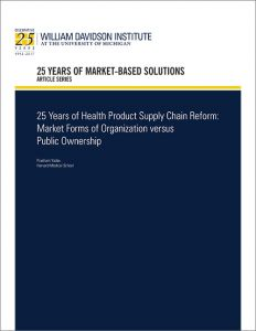 "Cover of 25th Anniversary article by WDI titled ""25 Years of Health Product Supply Chain Refrom"""