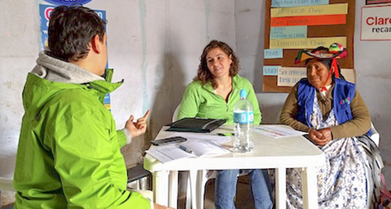 WDI staff in at work in South America
