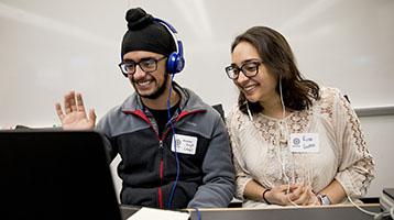 Participants in the M2GATE Virtual Exchange program